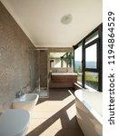 modern wooden bathroom with...   Shutterstock . vector #1194864529