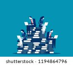 business team planning and... | Shutterstock .eps vector #1194864796