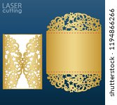 laser cut wedding invitation... | Shutterstock .eps vector #1194866266