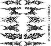 maori tribal tattoo   set of 6... | Shutterstock .eps vector #119486860