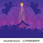 christmas religious nativity... | Shutterstock . vector #1194868849