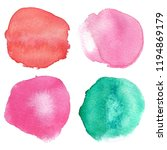 watercolor hand painted circle... | Shutterstock . vector #1194869179