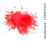 red abstract background with...   Shutterstock .eps vector #1194872173