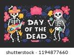 vector dia de los muertos  day... | Shutterstock .eps vector #1194877660