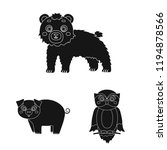 toy animals black icons in set... | Shutterstock . vector #1194878566