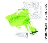 green brush stroke and texture. ... | Shutterstock .eps vector #1194879229