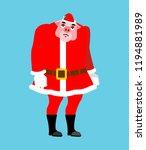 sad santa pig emoji. sorrowful... | Shutterstock .eps vector #1194881989