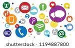 contact us symbols social media ... | Shutterstock .eps vector #1194887800