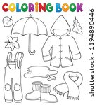 coloring book autumn objects... | Shutterstock .eps vector #1194890446