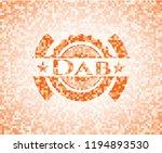 dab abstract emblem  orange... | Shutterstock .eps vector #1194893530