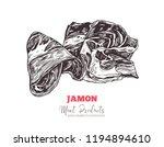 spanish jamon  italian... | Shutterstock .eps vector #1194894610