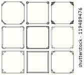 vector decorative frames  set... | Shutterstock .eps vector #119489476