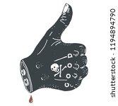 thumb up black ink illustration ... | Shutterstock .eps vector #1194894790