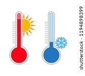 meteorology thermometers.... | Shutterstock .eps vector #1194898399