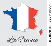 map of france with flag.... | Shutterstock .eps vector #1194900079