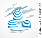 office building  modern... | Shutterstock .eps vector #1194903199