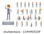 vector young adult manin...   Shutterstock .eps vector #1194905239