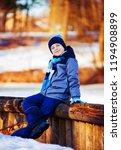 happy cute boy outdoor in the... | Shutterstock . vector #1194908899