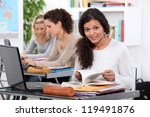 adult student working at a... | Shutterstock . vector #119491876