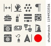 set of 15 concept filled icons... | Shutterstock . vector #1194923536