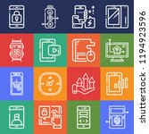 set of 16 touch outline icons... | Shutterstock . vector #1194923596