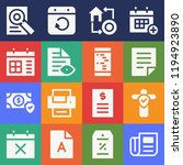 set of 16 paper filled icons...   Shutterstock . vector #1194923890