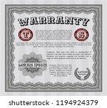 grey warranty certificate... | Shutterstock .eps vector #1194924379