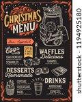 christmas menu template for... | Shutterstock .eps vector #1194925180