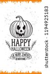 halloween invitation with... | Shutterstock .eps vector #1194925183