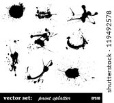 vector set of paint splatter | Shutterstock .eps vector #119492578