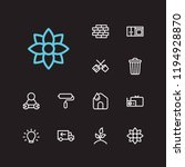 hygiene icons set. lighting and ...