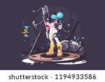 stalker girl holding biological ... | Shutterstock .eps vector #1194933586