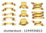 retro golden ribbons vector... | Shutterstock .eps vector #1194934813