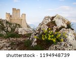 the old castle of calascio | Shutterstock . vector #1194948739