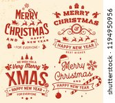 set of merry christmas and 2019 ... | Shutterstock .eps vector #1194950956