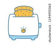 slice toaster with toast color...   Shutterstock .eps vector #1194955363