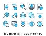 globe related line icon set....   Shutterstock .eps vector #1194958450