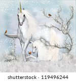 Fantasy Unicorn Winter Holiday...