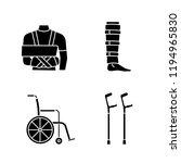trauma treatment glyph icons... | Shutterstock .eps vector #1194965830