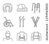 trauma treatment linear icons...   Shutterstock .eps vector #1194965833