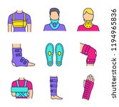 trauma treatment color icons... | Shutterstock .eps vector #1194965836