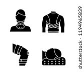 trauma treatment glyph icons... | Shutterstock .eps vector #1194965839