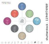 modern 8 steps presentation... | Shutterstock .eps vector #1194974989