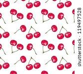 seamless sweet vector cherry... | Shutterstock .eps vector #119497528