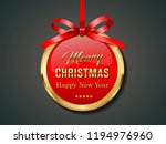 Christmas Gift Card With Ribbo...