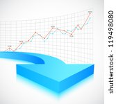 illustration of business arrow... | Shutterstock .eps vector #119498080