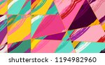 abstract collage asymmetric... | Shutterstock .eps vector #1194982960