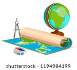 geography lesson objects   Shutterstock .eps vector #1194984199