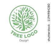 vector stylish floral logo  ... | Shutterstock .eps vector #1194984280