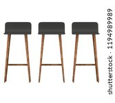 bar stool furniture 3d render... | Shutterstock . vector #1194989989